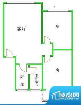 飞晟文汇广场2房1厅面积:0.00平米