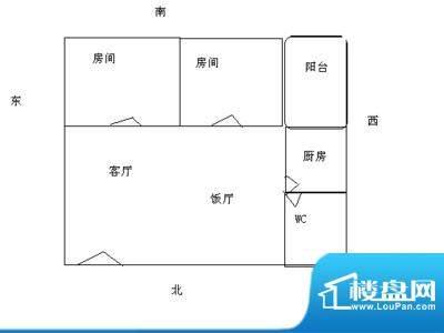 飞晟文汇广场2房2厅面积:0.00平米