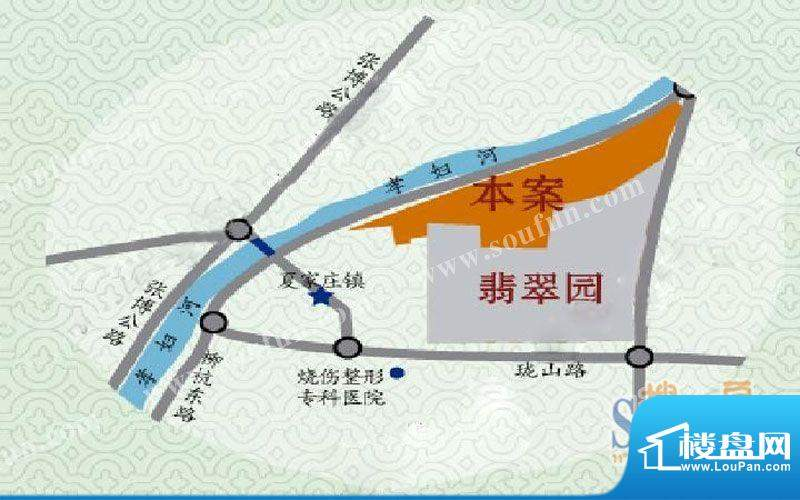 博山中房翡翠水岸交通图