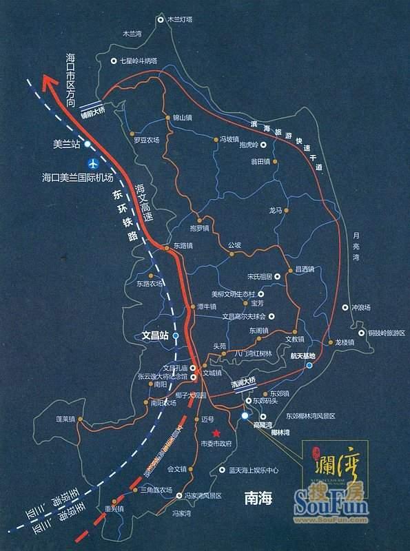 海拓澜湾交通图