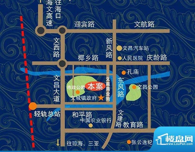 椰林山庄交通图