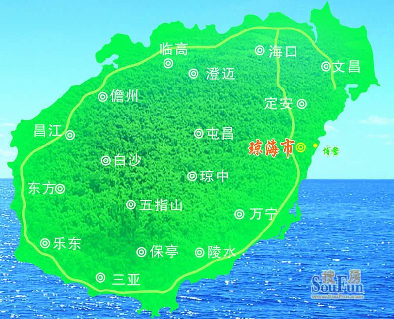 榆海万泉河畔交通图