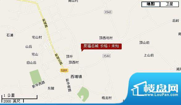 聚福名城交通图