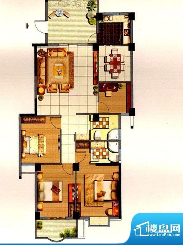 聚福名城9#四室一厅面积:140.00m平米