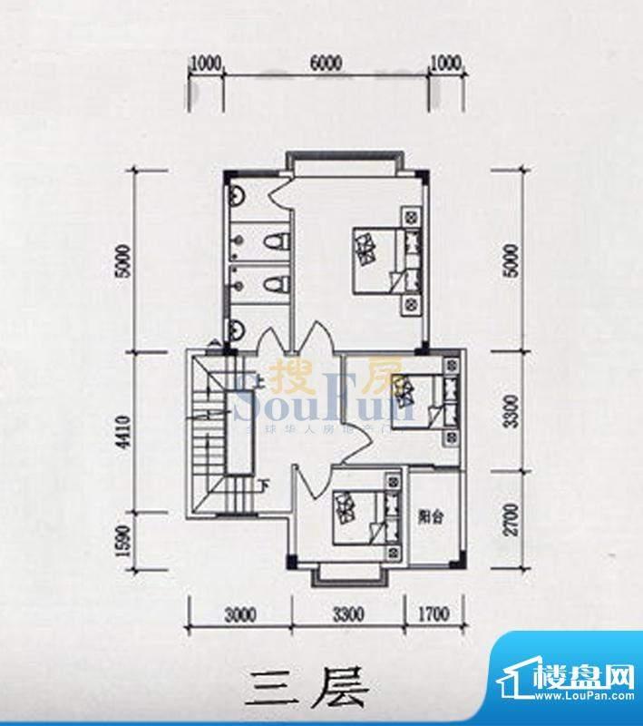 力源愉苑联排别墅B1面积:0.00平米