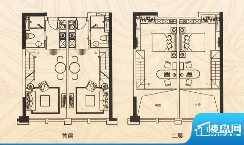 邦泰国际公寓五层06面积:86.00平米