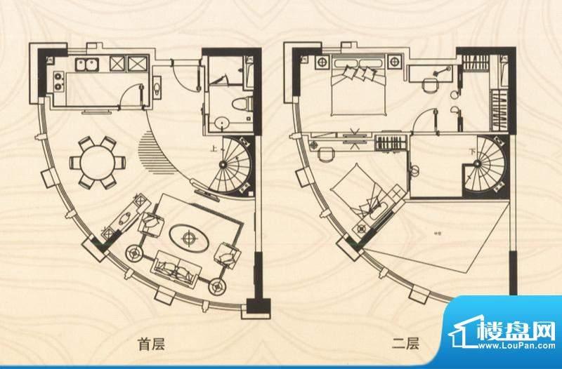 邦泰国际公寓五层07面积:76.00平米