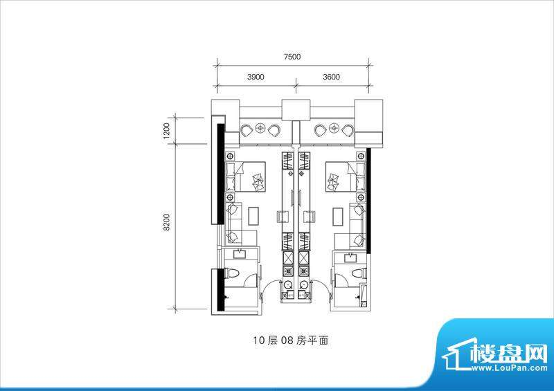 邦泰国际公寓10层08面积:0.00平米
