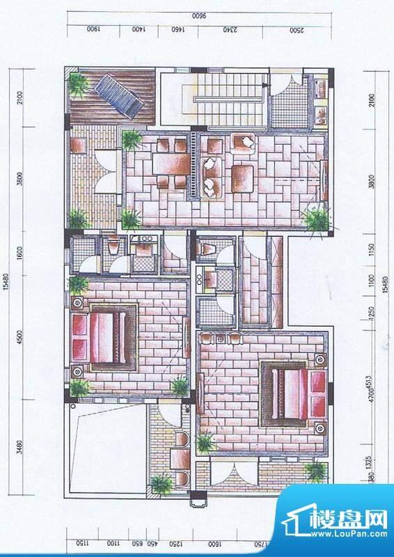 官塘御泉庄一期2-6号面积:119.17平米