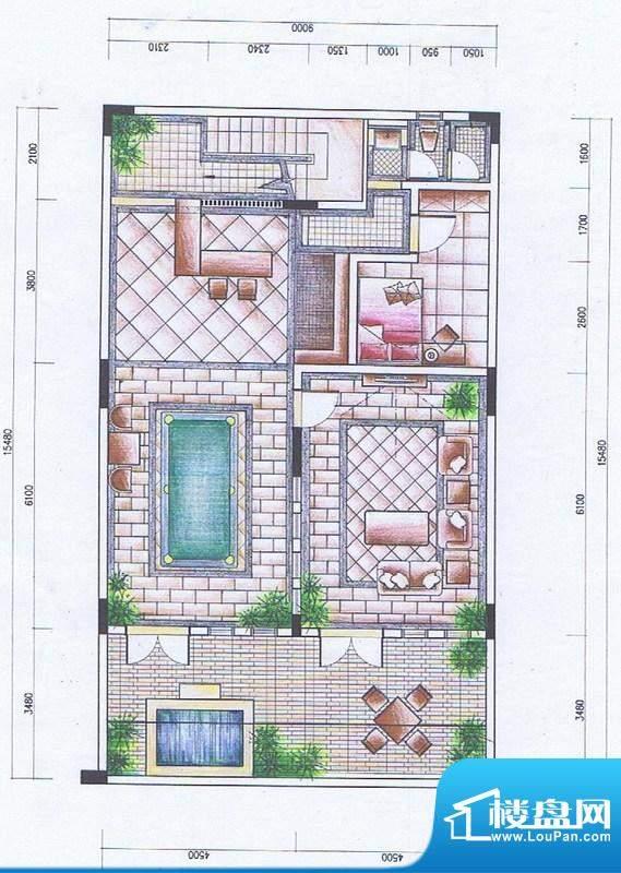官塘御泉庄一期2-6号面积:133.25平米