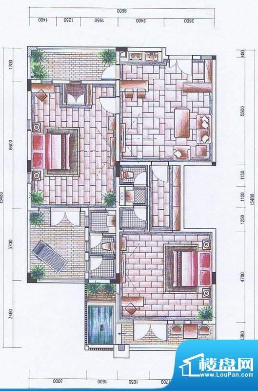 官塘御泉庄一期2-6号面积:135.37平米