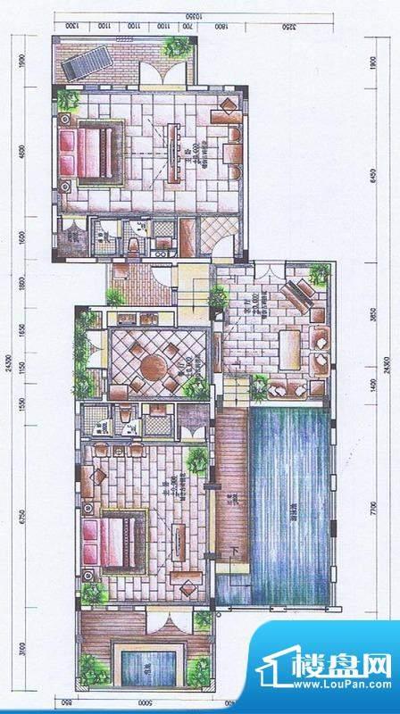 官塘御泉庄一期2-6号面积:165.72平米