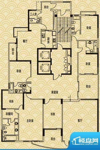 流花君庭L5户型图(8面积:397.49平米