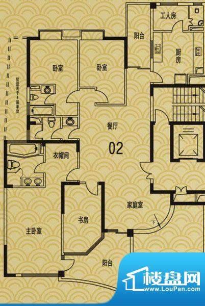 流花君庭5室2厅 户型面积:0.00平米