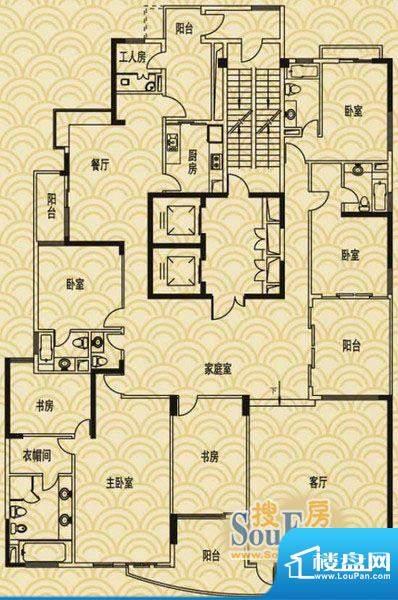流花君庭7室2厅户型面积:0.00平米