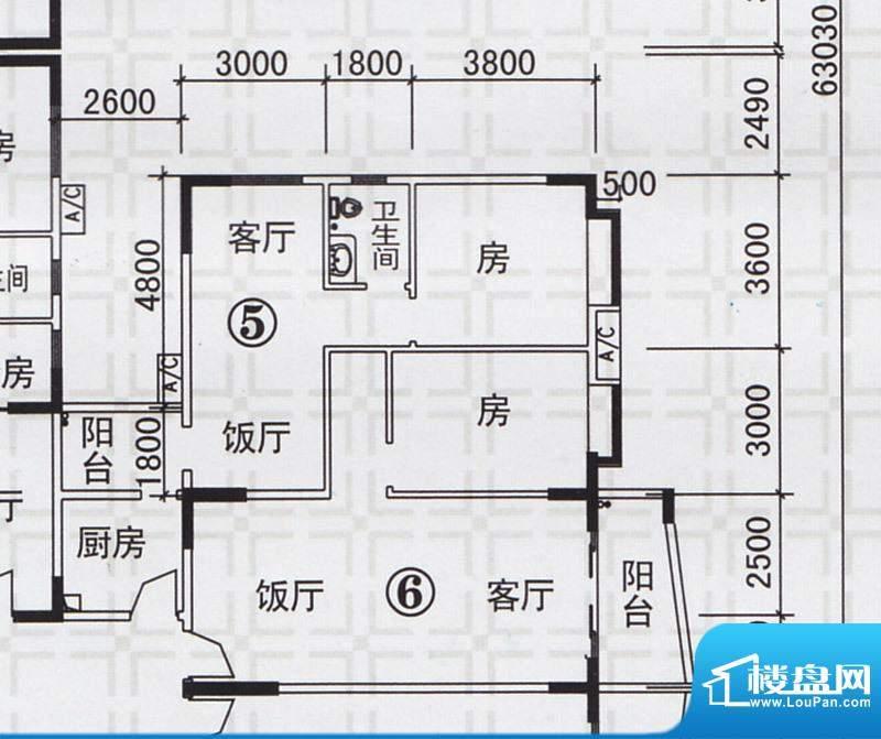 新都雅居A栋05-06户面积:126.25平米