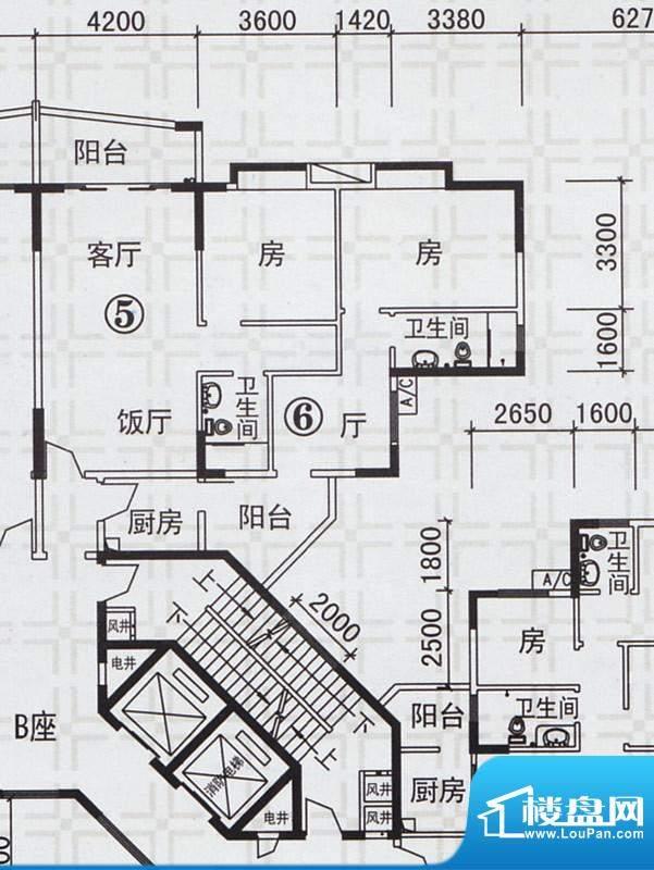 新都雅居B栋05-06户面积:121.15平米