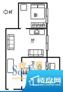 新都雅居1室1厅户型面积:0.00平米