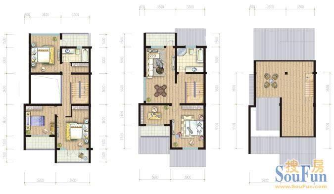 金庭乐府34#S1 2-3层面积:328.26平米