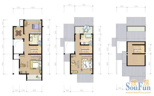 金庭乐府65#B 2-3层面积:266.66平米
