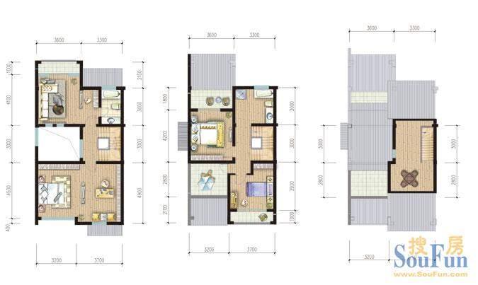 金庭乐府76#A1 2-3层面积:251.93平米
