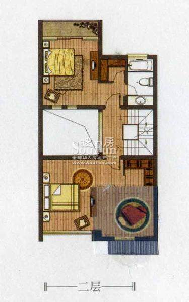 金庭乐府67#A1户型二面积:215.60平米
