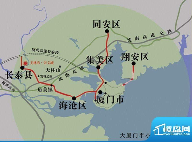 美林湾.崇文城交通图