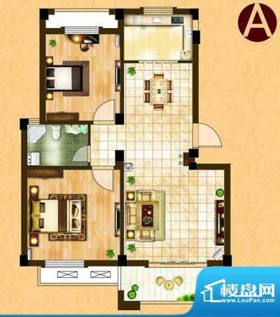 中茵名都A(两室两厅面积:87.00m平米