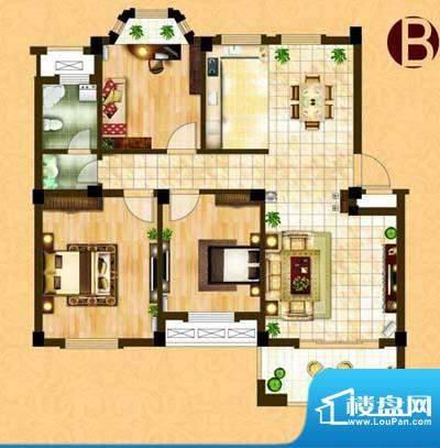中茵名都B(三室两厅面积:104.00m平米