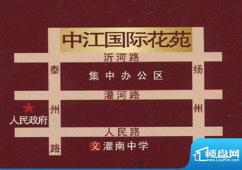 中江国际花苑交通图