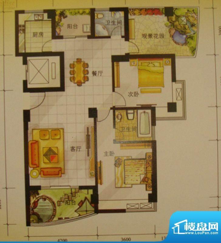 尚东琴畔2室2厅2卫1面积:0.00m平米