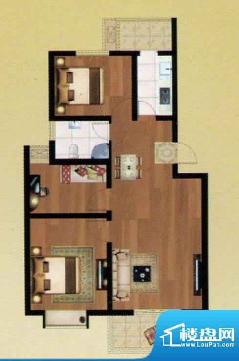 嘉禾·盛世豪庭B户型面积:102.14m平米