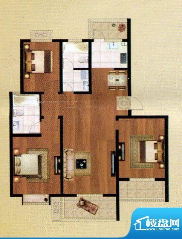 嘉禾·盛世豪庭C户型面积:133.83m平米