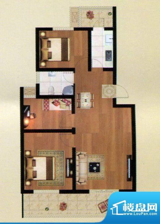 嘉禾·盛世豪庭D户型面积:111.09m平米