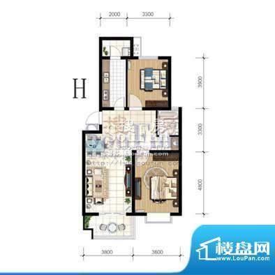 嘉禾·盛世豪庭H 2室面积:0.00m平米