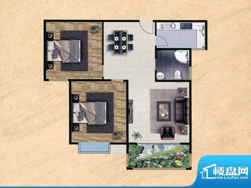 众兴·嘉城H户型 3室面积:99.00m平米