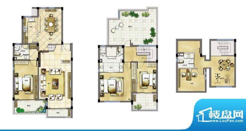 玖园A3 4室2厅3卫1厨面积:160.03平米