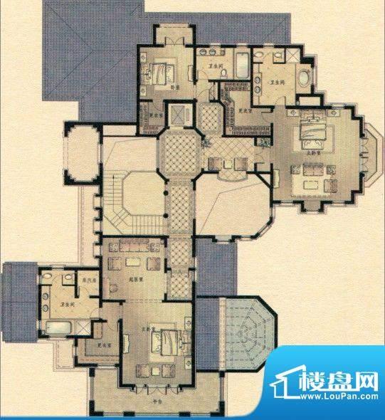 三江尊园L2二层户型面积:0.00m平米