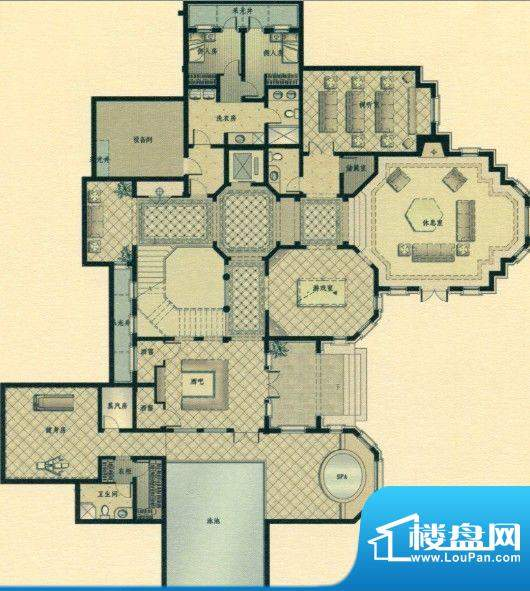 三江尊园L2庭院户型面积:0.00m平米