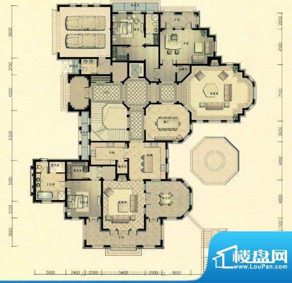 三江尊园户型图 2室面积:0.00m平米