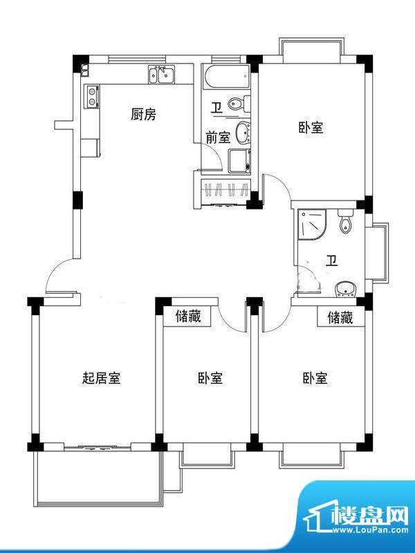 旭东新城20幢标准层面积:122.90平米