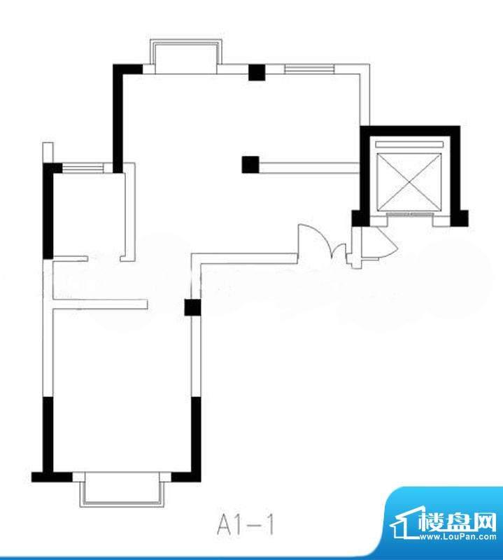 旭东新城18幢标准层面积:59.21平米