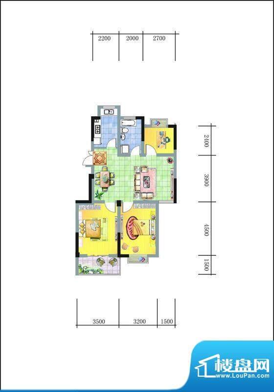 旭东新城二期15幢标面积:98.00平米