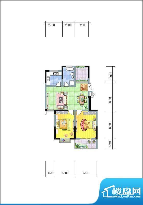 旭东新城二期15幢标面积:92.00平米