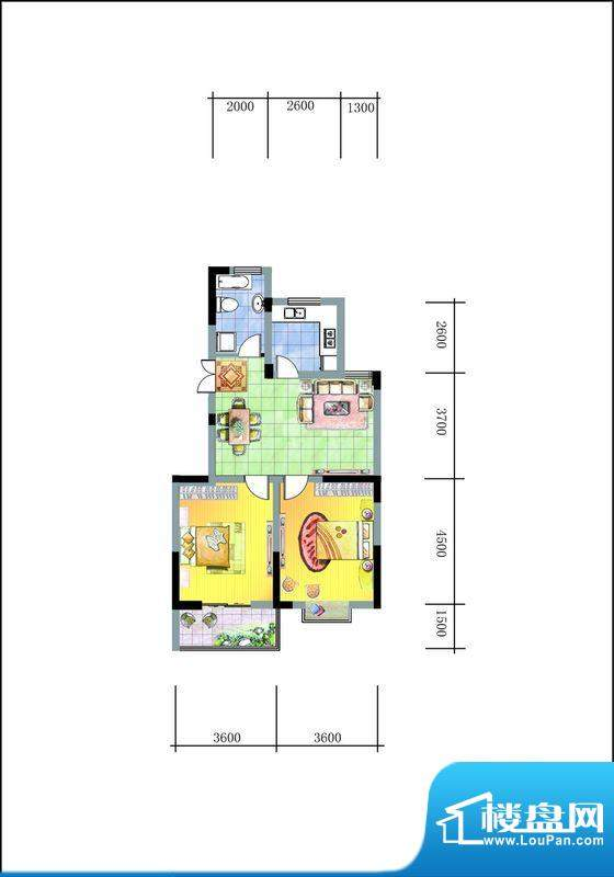 旭东新城二期16幢标面积:86.00平米