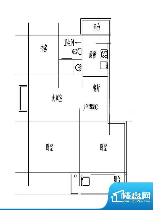 百露园一期2、3幢标面积:85.69平米