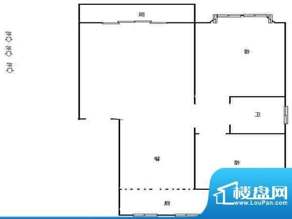 鑫龙花苑户型图 2室面积:0.00平米