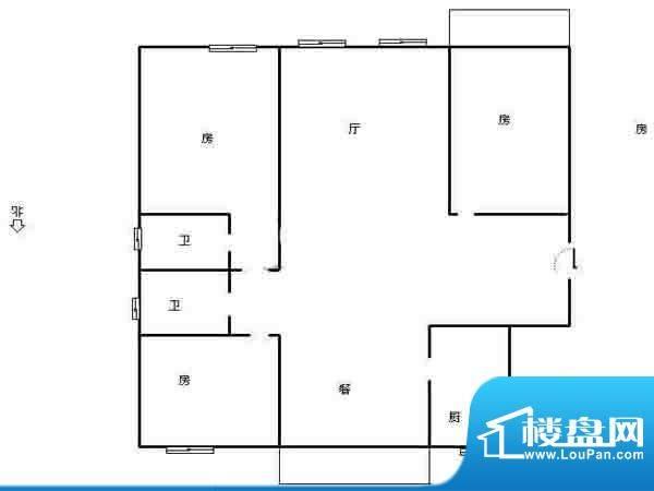 鑫龙花苑户型图 3室面积:0.00平米