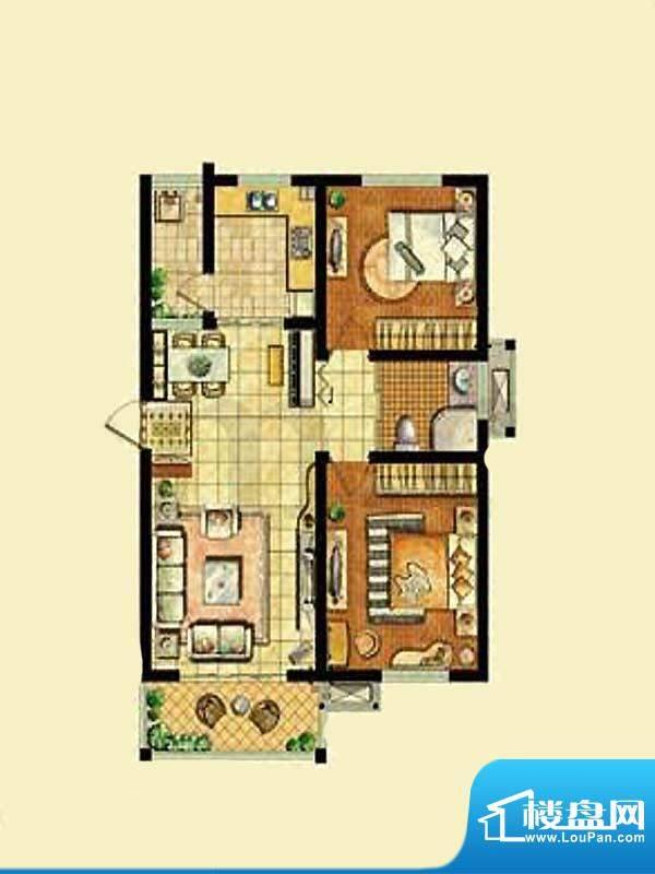金东城世家一期36幢面积:88.65平米