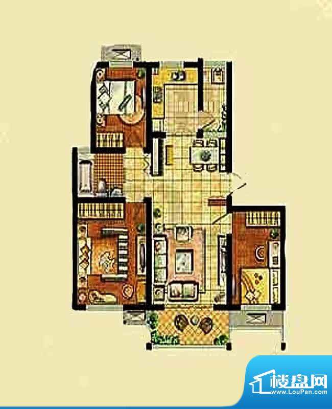 金东城世家一期33、面积:87.35平米